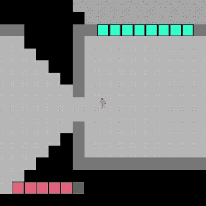 A really early and ugly screenshot of my game.  One day soon, I'll look back at this and cringe.
